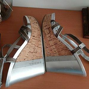 Prada Shoes - Prada Wedge Cork Sandals 38